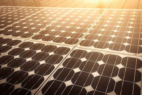 Solar energy panel photovoltaics module with sunlight reflection