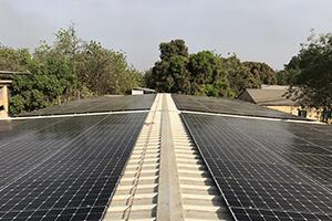 Installation sur toiture inclinée